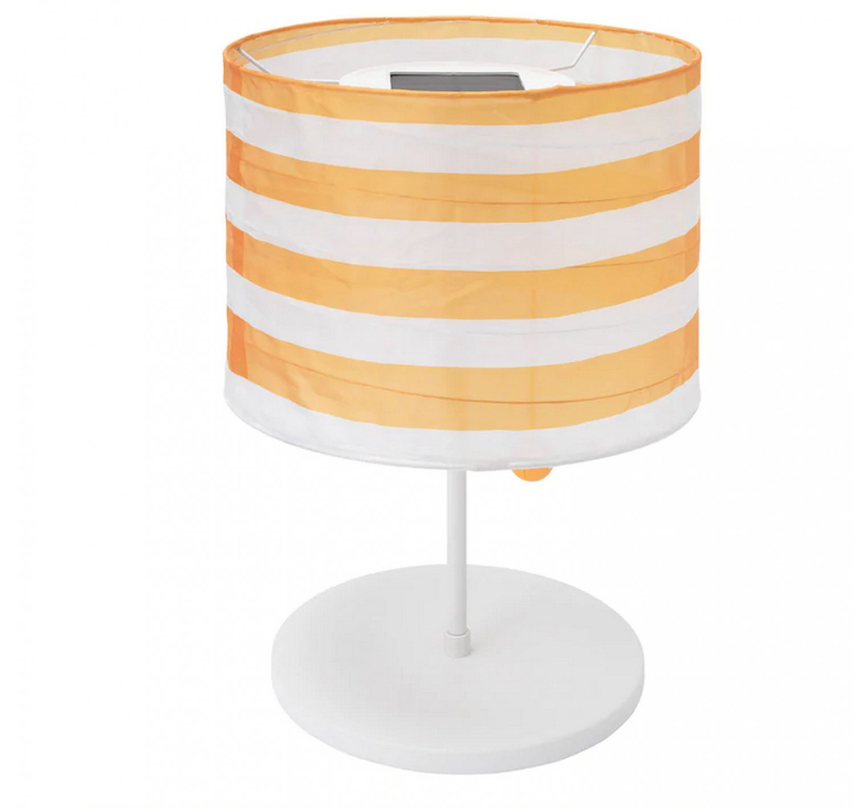 IKEA Solvinden LED Patio Table Lamp SOLAR POWER Light Yellow Stripe Outdoor