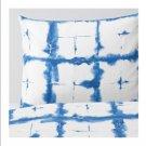 IKEA Tankvard QUEEN Full Duvet COVER and Pillowcases Set LINEN Blue White TÄNKVÄRD Shibori