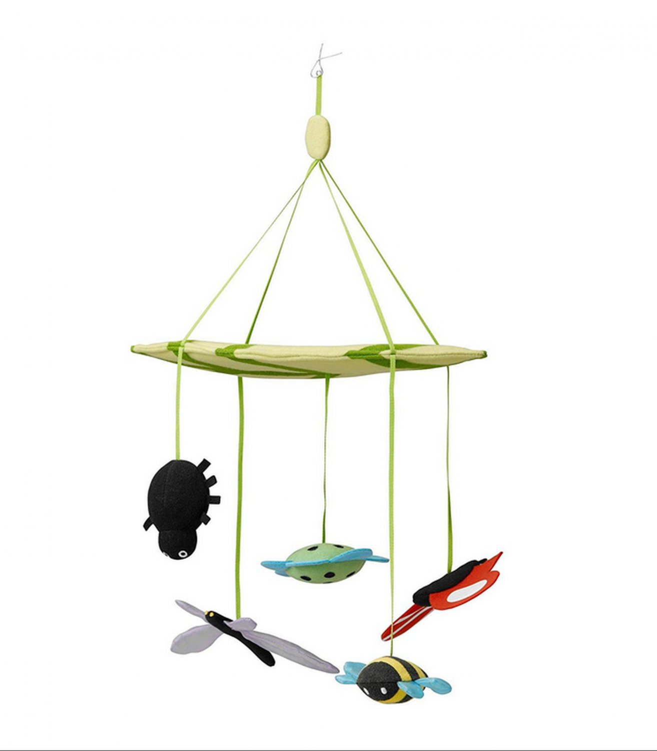 IKEA Leka Nursery MOBILE Bee Butterfly Leaf Flower Dragonfly Spider Play and Learn  Fun