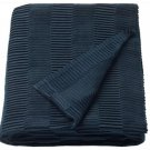 IKEA Vagmalla Throw BLANKET Afghan BLUE Photo PROP Textural VÄGMÅLLA