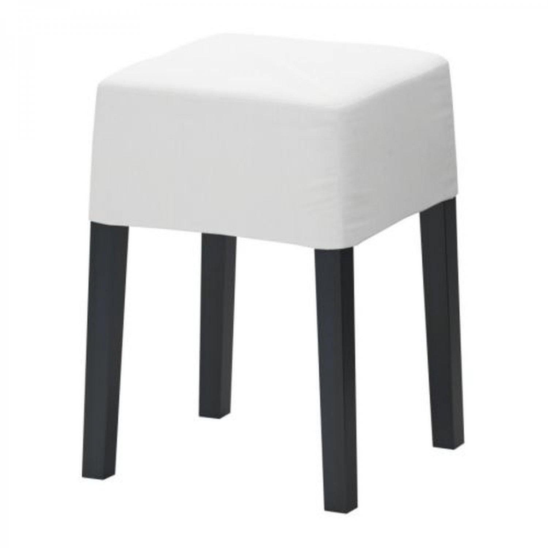 IKEA NILS  Footstool SLIPCOVER Cover BLEKINGE WHITE Cotton