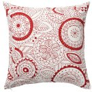 "IKEA Vinter 2019 CUSHION COVER Pillow Sham RED White 20"" x 20"" Scandinavian Xmas"