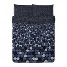 IKEA Smorboll BLACK Gray Queen Full Duvet COVER Pillowcases Set  SMÖRBOLL Dots Circles