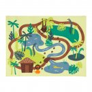 IKEA Djungelskog Area RUG Throw Play Mat Jungle BLUE Green KIDS Trees