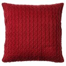 "IKEA Purpurmott CUSHION COVER Pillow Sham RED 20""x20"" Knit  Xmas Ski Lodge Nordic"