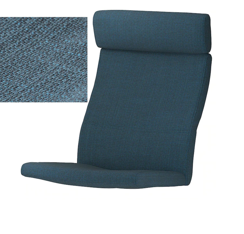 IKEA Poang Armchair CUSHION Hillared Dark Blue PO�NG Cover