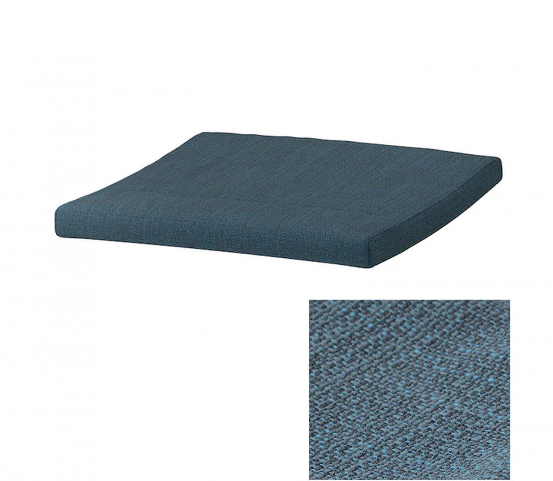 IKEA Poang PO�NG Footstool CUSHION HILLARED DARK BLUE Ottoman Cover