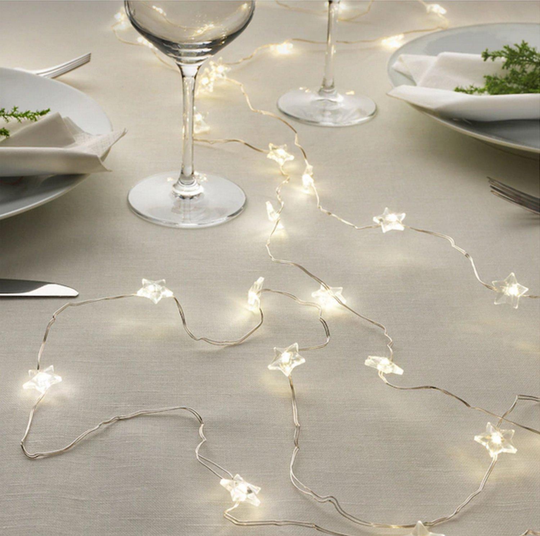 IKEA Strala Star Lights Fairy Stars BATTERY Operated LED Kallt STR�LA Glansa