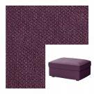 IKEA KIVIK Footstool SLIPCOVER Ottoman Cover DANSBO LILAC Purple Bezug Housse