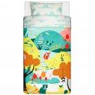 IKEA Lattjo TWIN Duvet COVER Set NATURE GARDEN Magic Animal DREAMWORKS Woodland Forest Unisex