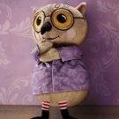 IKEA KATTUGGLA Owl SOFT Plush Toy BROWN Wise Old Bird Spectacles NWT