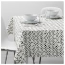 IKEA Sommar 2017 TABLECLOTH White BLACK Diamond Pattern Cotton Limited Edition Summer Design Fabric