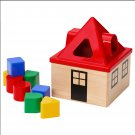 IKEA Mula Wooden House SHAPE SORTER Toy Classic Preschool XMAS Baby Toddler Red Roof