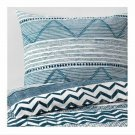 IKEA Provinsros QUEEN Full Duvet COVER and Pillowcases Set BLUE White Greek Mediterranean