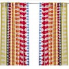 IKEA Hedda CURTAINS Drapes Multicolor Design  Mid-century pattern like Orla Kiely MCM