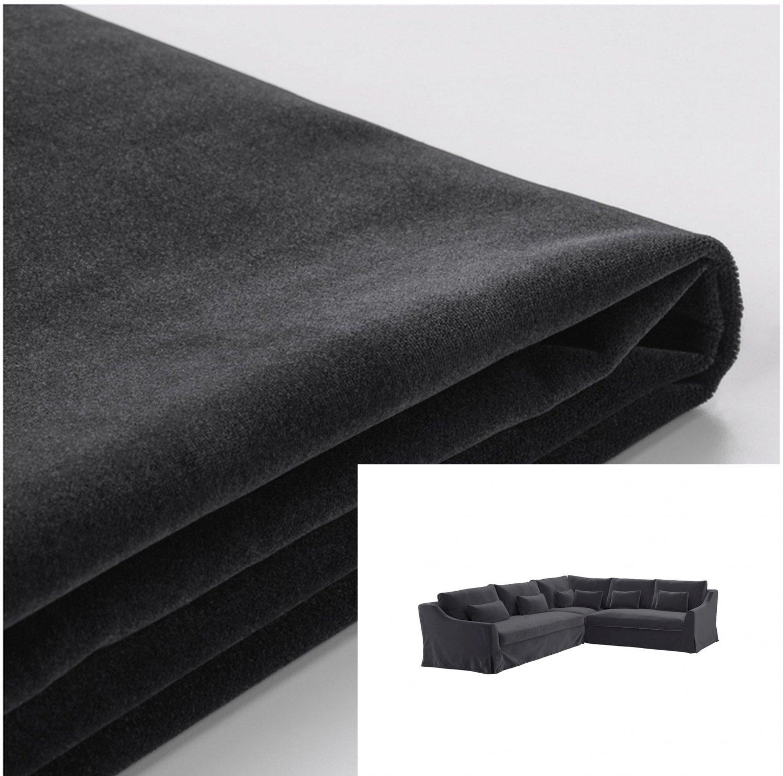 IKEA Farlov 5 Seat Left Sectional Sofa SLIPCOVER 3+2 corner Cover Djuparp Dark Gray F�RL�V