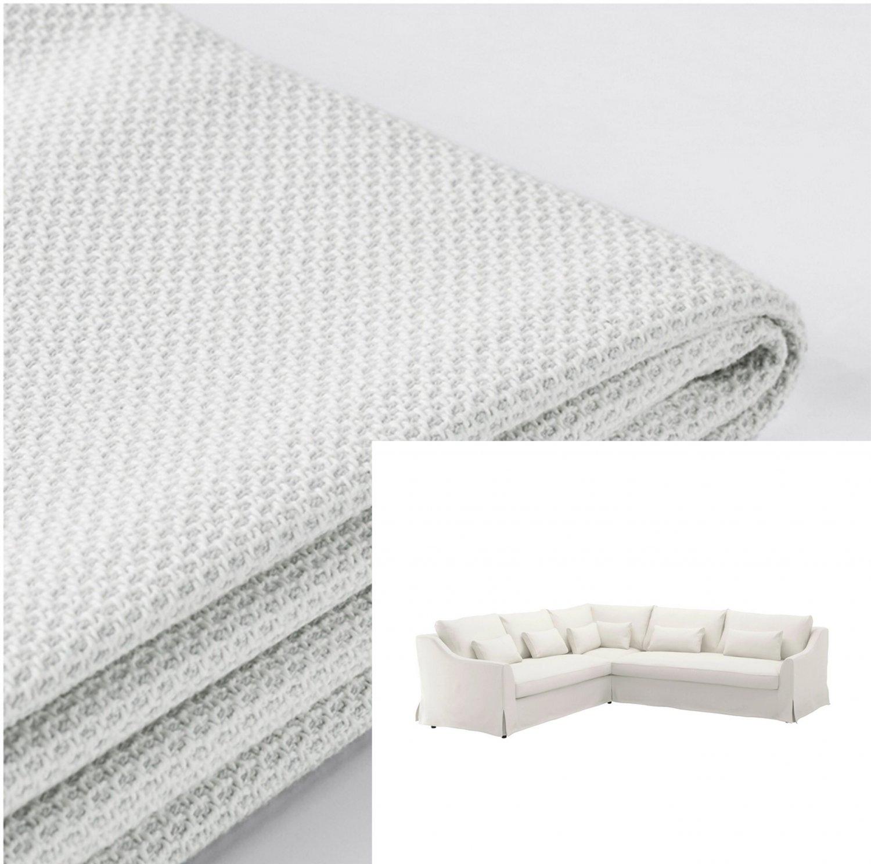 IKEA Farlov 5 Seat Right Sectional Sofa SLIPCOVER 2+3 corner Cover Flodafors White F�RL�V
