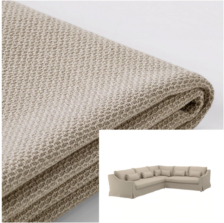 IKEA Farlov 5 Seat Left Sectional Sofa SLIPCOVER 3+2 corner Cover Flodafors Beige F�RL�V