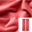 "IKEA Sanela CURTAINS Drapes 2 Panels LIGHT BROWN-RED 98"" Coral Orange Red BLACK OUT"