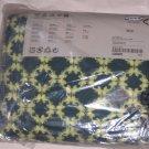 IKEA Klippan  Footstool SLIPCOVER Pouffe Cover KARRUM DARK GREEN Retro Geometric