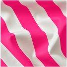 IKEA Sofia Fabric Material 1 Yd BRIGHT PINK White Broad Stripe Cabana Print Rose
