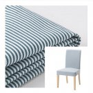 IKEA Henriksdal Chair SLIPCOVER Cover REMVALLEN Blue White Stripes ticking dining