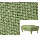 IKEA Karlstad Footstool SLIPCOVER Ottoman Cover KORNDAL GREEN