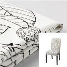 """IKEA Henriksdal Chair SLIPCOVER Cover VISLANDA Black White Leaf 21"""" 54cm"""