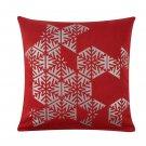 "IKEA Snokrokus CUSHION COVER Pillow Sham RED Silver 20"" Scandinavian Xmas Snowflake Vinter 2020"
