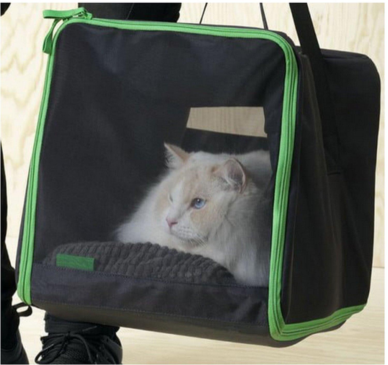 IKEA Lurvig Cat Dog TRAVEL BAG Bed Tent Pet Hiding Place BLACK Animal Bastis