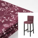 "IKEA Henriksdal RYRANE DARK RED Floral Bar Stool SLIPCOVER Barstool COVER 19"" 48cm"