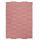 IKEA Stockholm 2017 RED Off White AREA RUG Broken Stripe WOOL Modern FLATWOVEN 8x12 Iconic