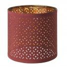 "IKEA Nymo Table Accent Lampshade 9.5"" DARK RED / BRASS  Pendant Lamp Shade NYMÖ Rust MCM"