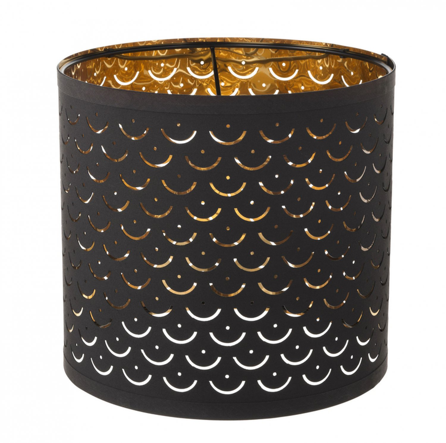 """IKEA Nymo Table Accent Lampshade 9.5"""" BLACK / BRASS  Pendant Lamp Shade NYM� MCM"""