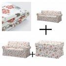 IKEA Ektorp 3 Seat Sofa and 2 Seat Loveseat and Footstool SLIPCOVERS Covers VIDESLUND Multi Floral