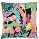 "IKEA Nabbfly CUSHION COVER Pillow Sham Multicolor 20"" Tropical Floral Rainforest Birds Flowers"
