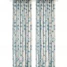 IKEA Fjallmatare Drapes CURTAINS  Beige Blue 2 Panels Geometric MCM Modern Art FJÄLLMÄTARE
