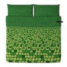 IKEA Smorboll GREEN King Duvet COVER Pillowcase Set SMÖRBOLL Dots Circles