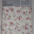 IKEA Thisted Blom QUEEN Full Double Duvet COVER Pillowcases Set Floral Off White Blue Red Green