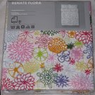 IKEA Renate Flora QUEEN Duvet COVER and Pillowcases Set Floral Multicolor Flowers daisies Emma Jones