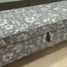 IKEA Stocksund Bench SLIPCOVER Cover HOVSTEN Floral GRAY Grey White Watercolor Effect