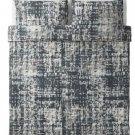 IKEA Skogslonn QUEEN Full DUVET COVER Pillowcases Set Black Multicolor Cotton Lyocell SKOGSLÖNN