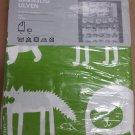 IKEA Barnslig Ulven TWIN Duvet Cover and Pillowcase Set GREEN Animals Retro Runes