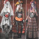 SIMPLICITY 1033 Elaine Heigl Skeleton Halloween Horror Costume Pattern Size 14, 16, 18, 20, 22