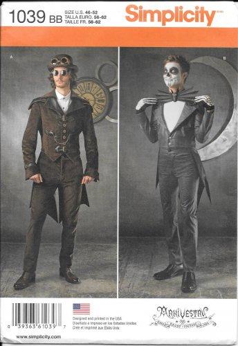 SIMPLICITY 1039 Mens' Arkivestry Steampunk Fantasy Costume Pattern Size 46-52