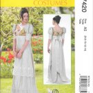 McCall's M7420 Regency Empire Waist Dress Sizes 6, 8, 10, 12, 14  Pattern