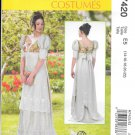 McCall's M7420 Regency Empire Waist Dress Sizes 14, 16, 18, 20, 22  Pattern