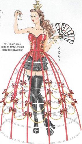 McCall's M7306 Corset Hoop Skirt Sizes 6, 8, 10, 12, 14 Costume Pattern