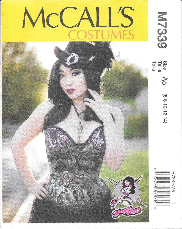 McCall's M7339 Yaya Hans Corset Sizes 6, 8, 10, 12, 14 Costume Pattern