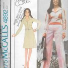 McCall's 4892 Unlined Yoked Jacket Skirt Pants Size 14 Vintage Sewing Pattern